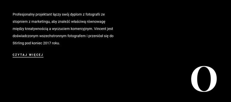 Tekst o firmie Szablon witryny sieci Web
