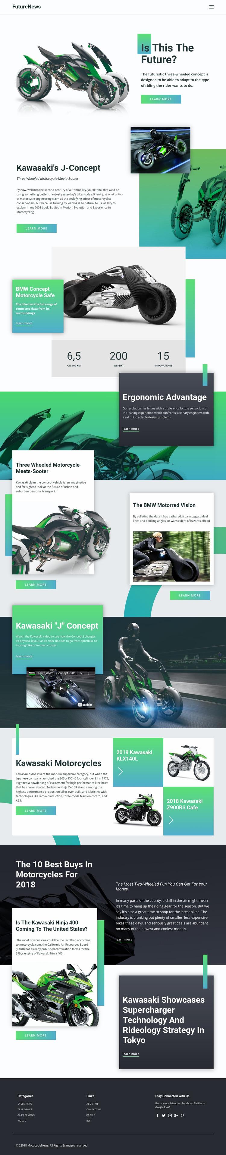 Future News Web Page Design