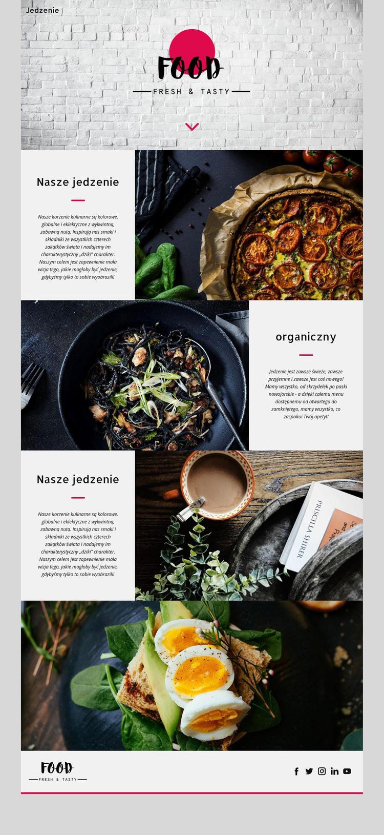 Świeży i smaczny Szablon witryny sieci Web