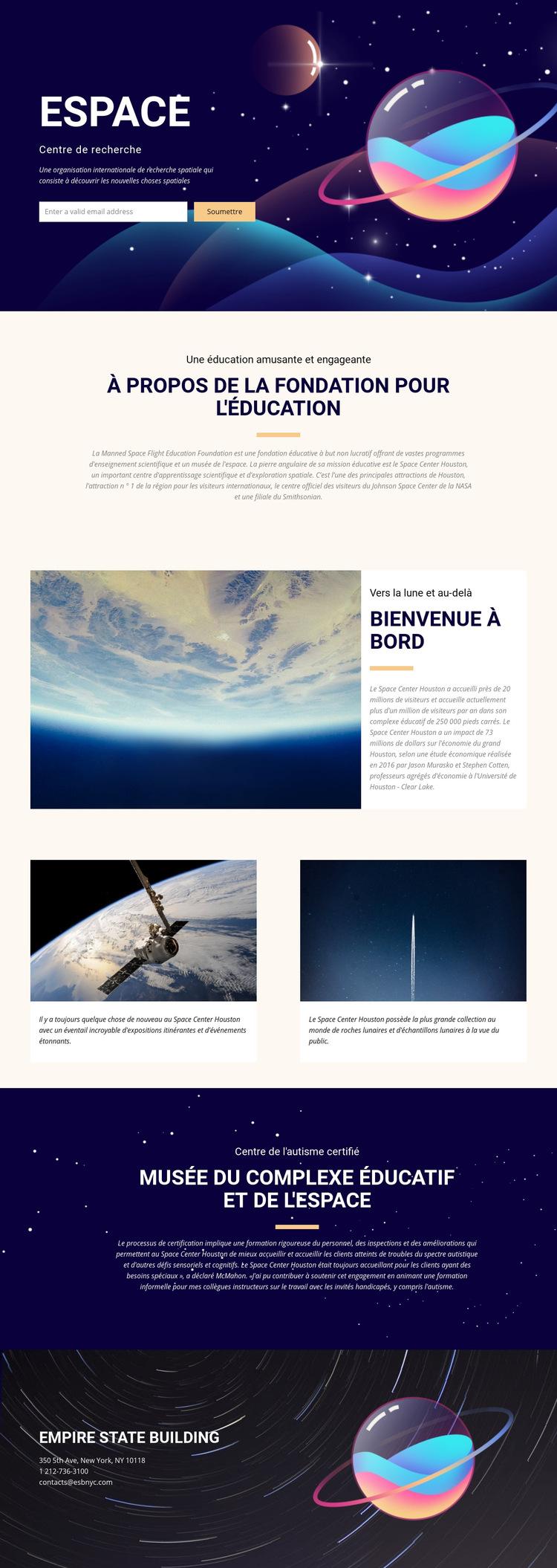 Espace Modèle de site Web