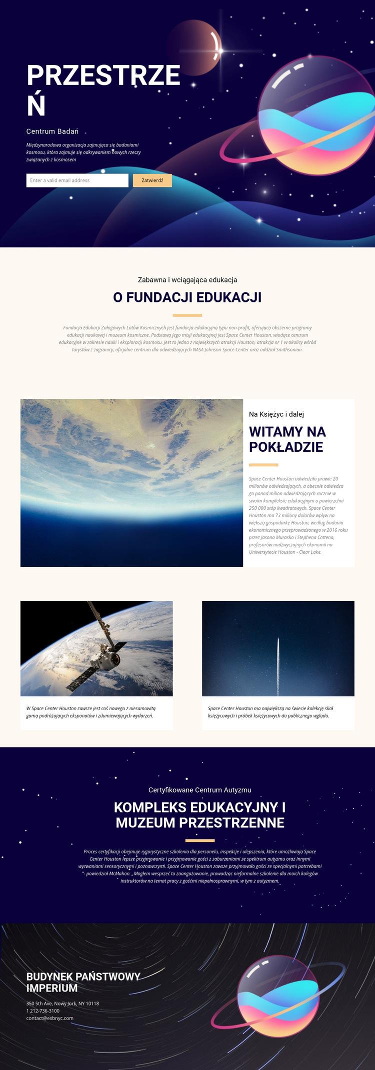 Przestrzeń Szablon witryny sieci Web