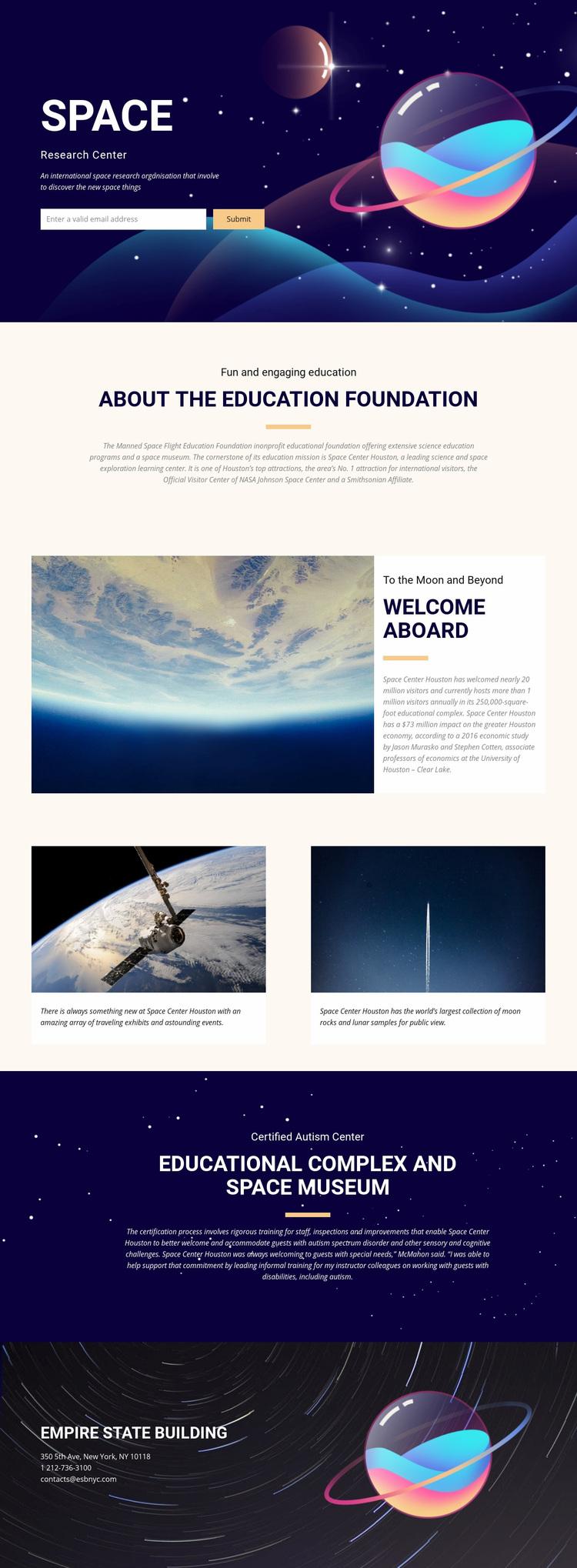 Space Web Page Designer