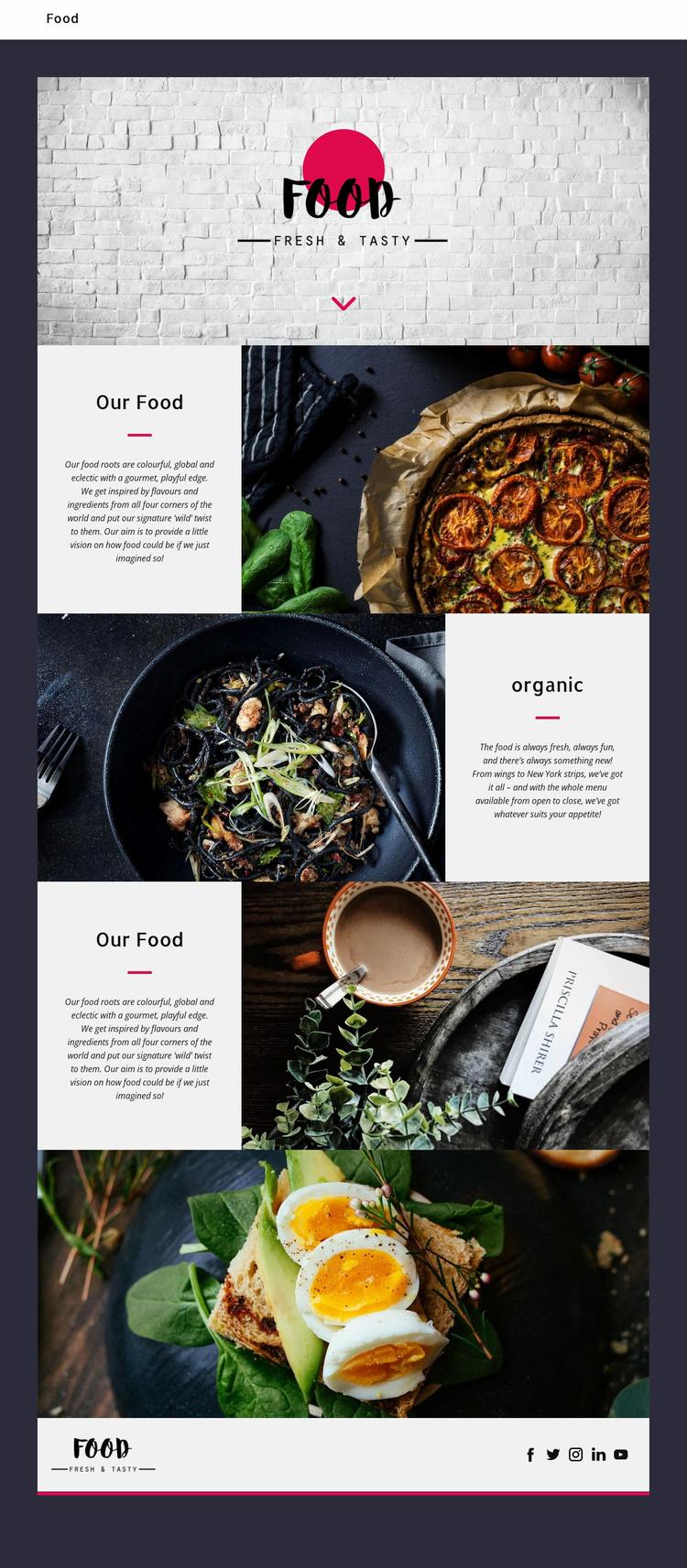 Fine oriental restaurant Landing Page