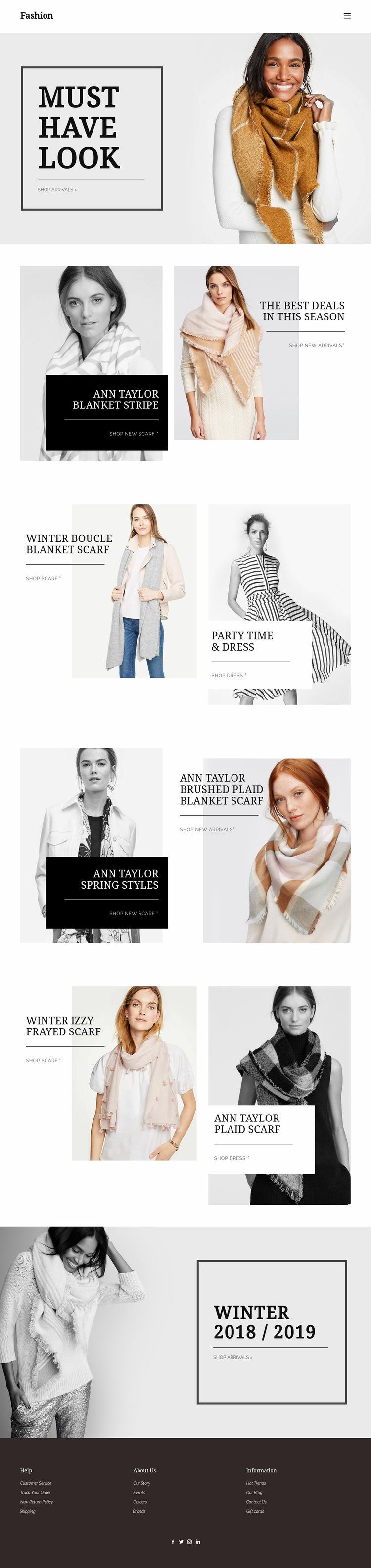 Personal shopper service Web Page Design