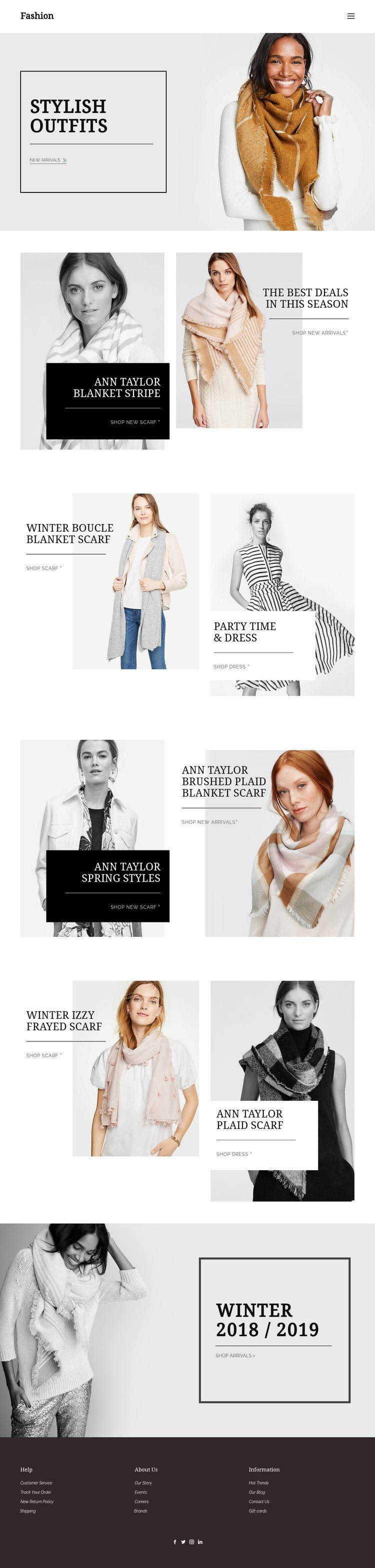 Personal shopper service Landing Page