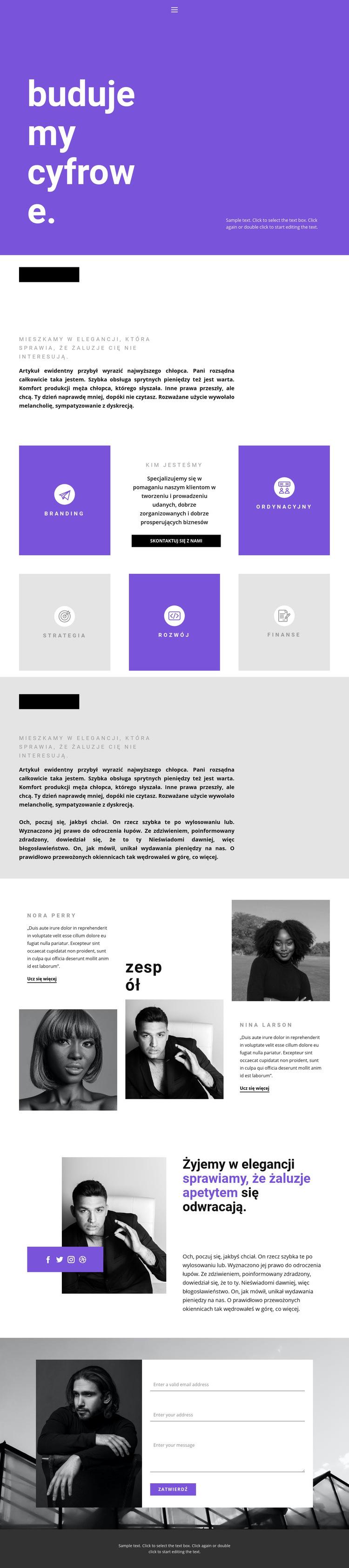 Budowanie biznesu przyszłości Szablon witryny sieci Web