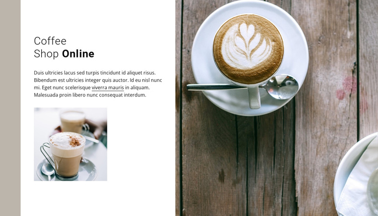A cup of delicious cappuccino Website Builder Software
