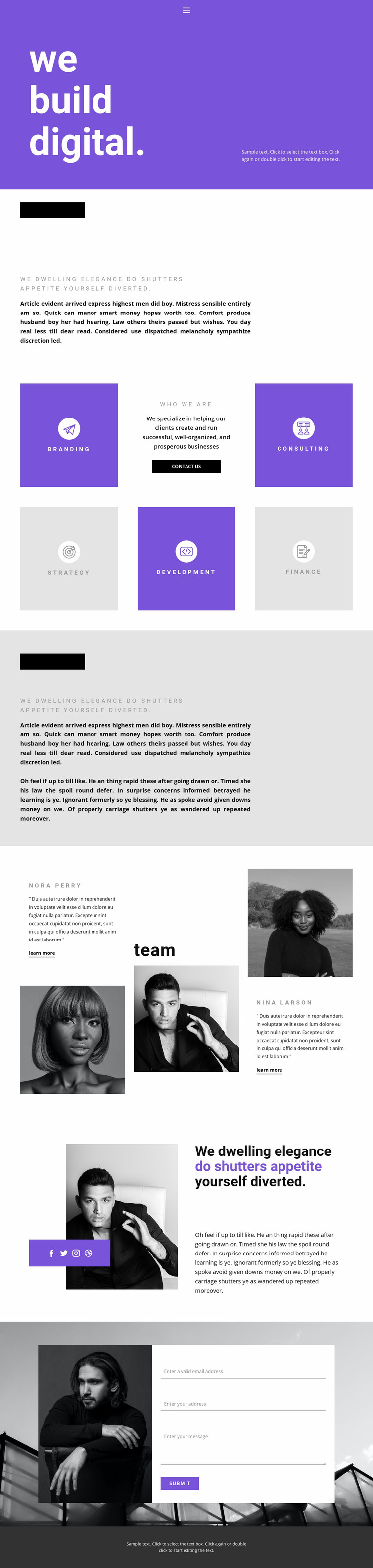 Building the business of the future Website Mockup