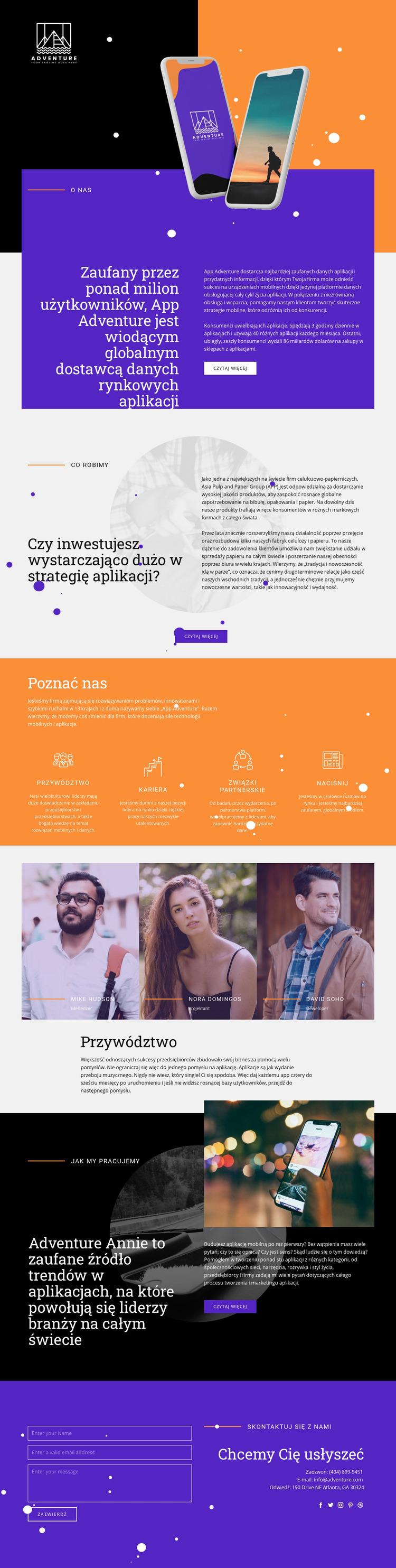 Aplikacja podróżnicza Szablon Joomla
