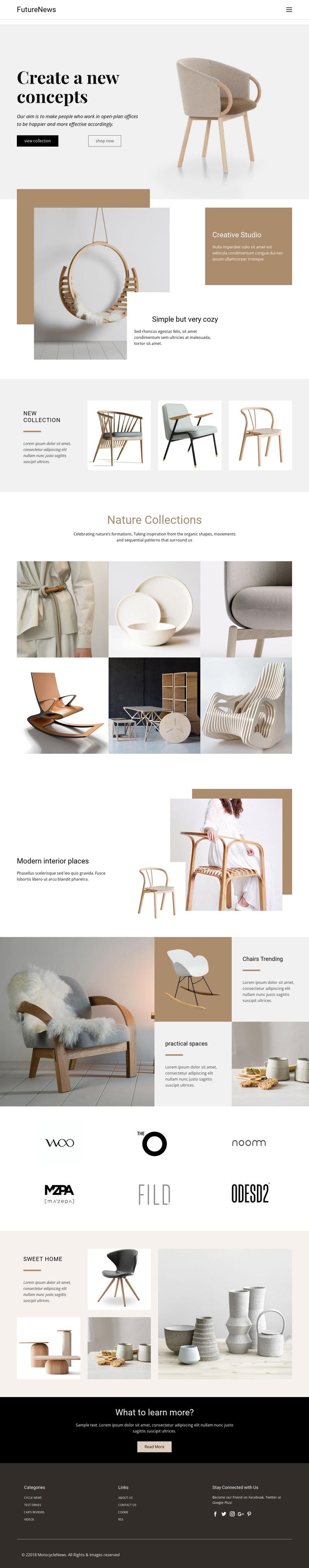 Modern living interior HTML Template