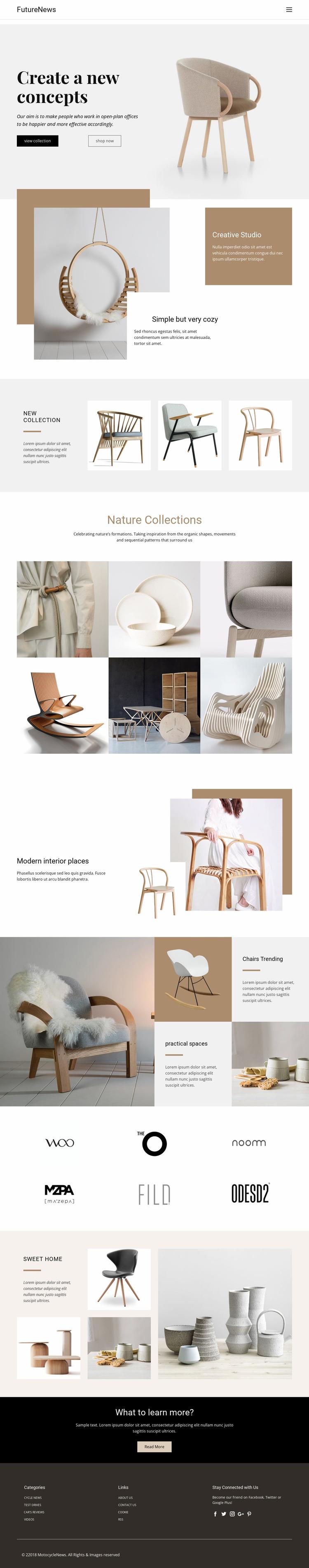 Modern living interior Html Website Builder