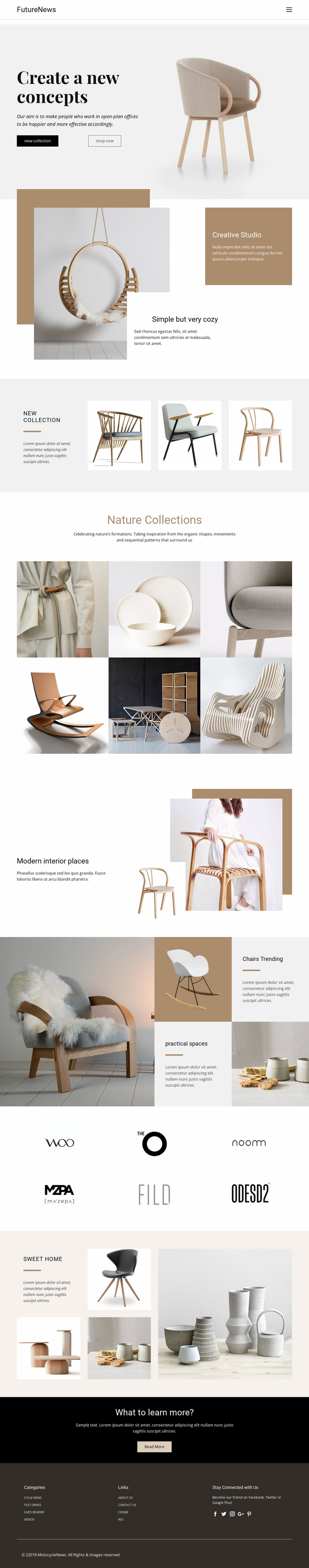 Modern living interior Website Builder