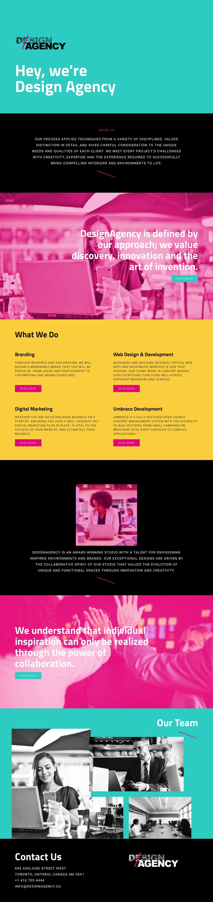 Hello, we are design agency CSS Template