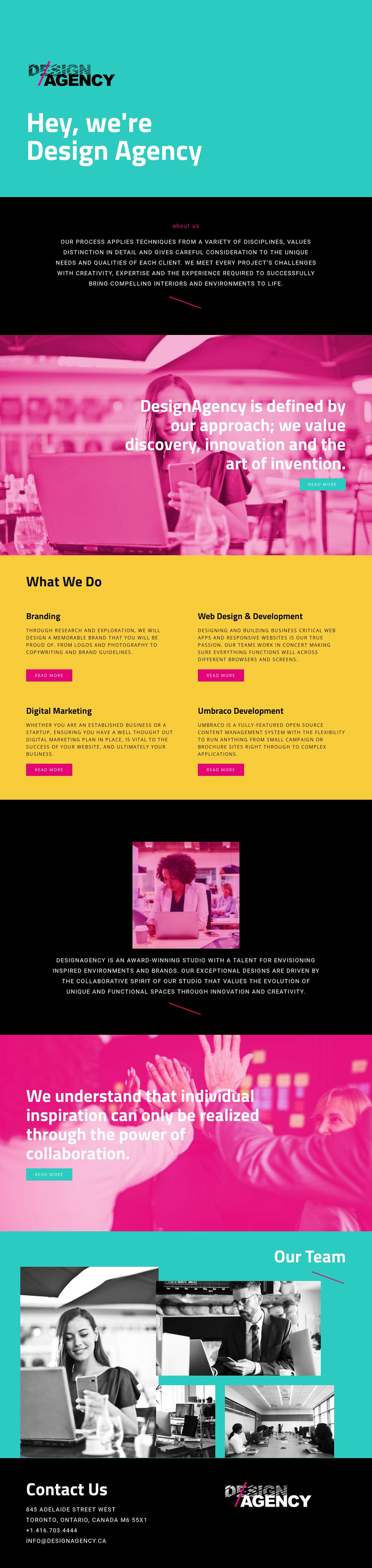 Hello, we are design agency Template