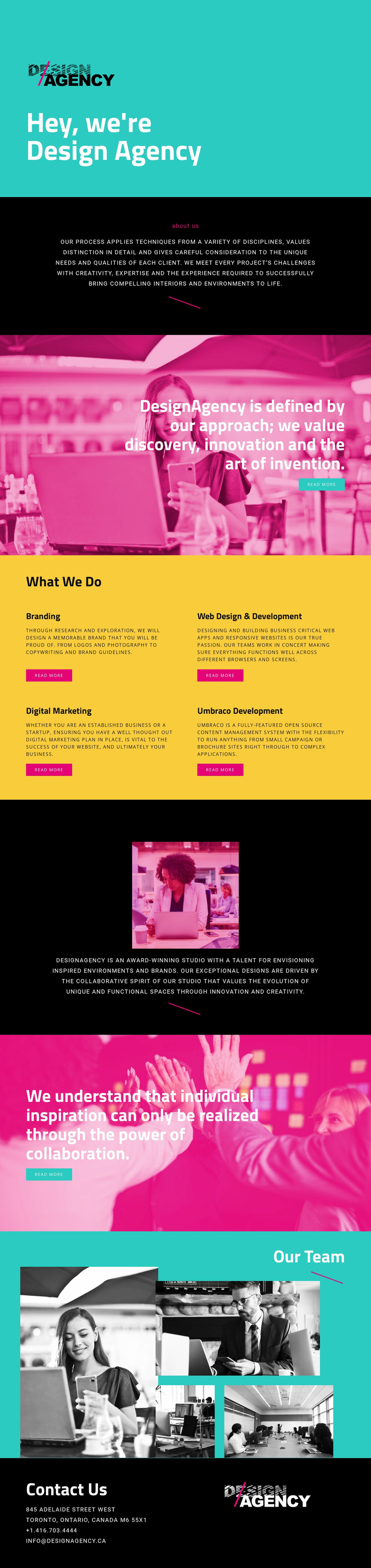 Hello, we are design agency Website Template