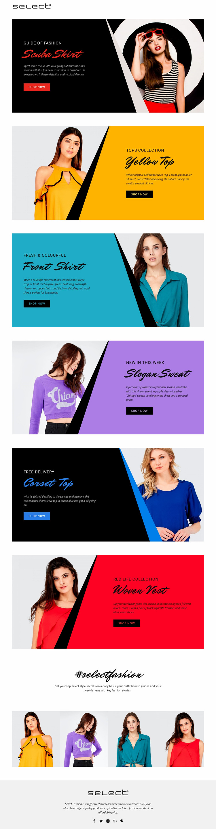 Learn about dress codes Website Mockup