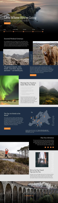 Planning Your Travel Html Website Builder