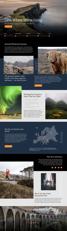 Planning Your Travel Website Mockup