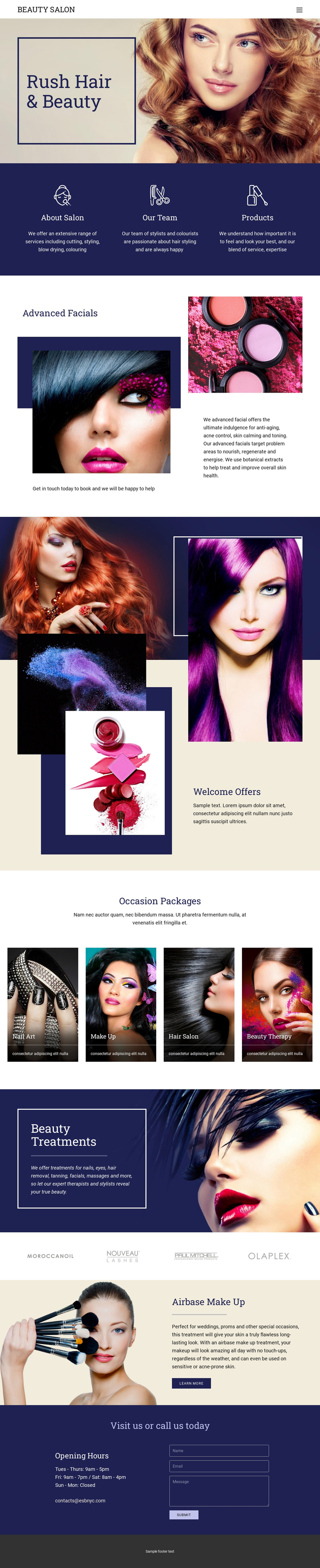 Beauty Salon Website Builder Software
