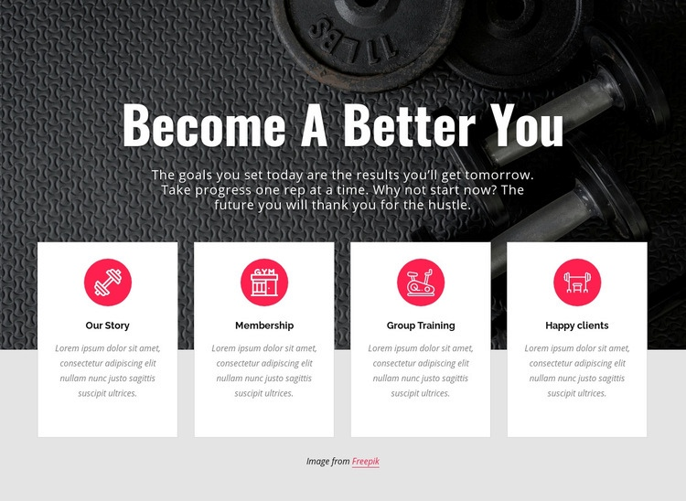 Becone a better you Html Code Example