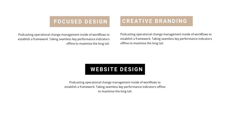 Benefits in grid HTML5 Template