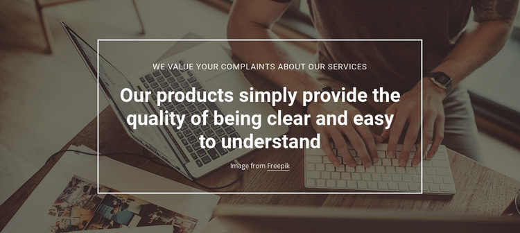 Product quality analytics HTML5 Template