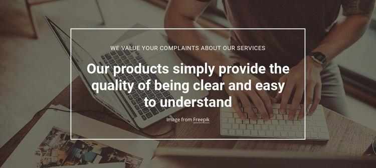 Product quality analytics Web Page Designer
