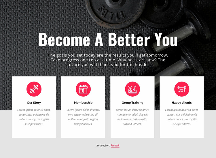 Becone a better you Website Template