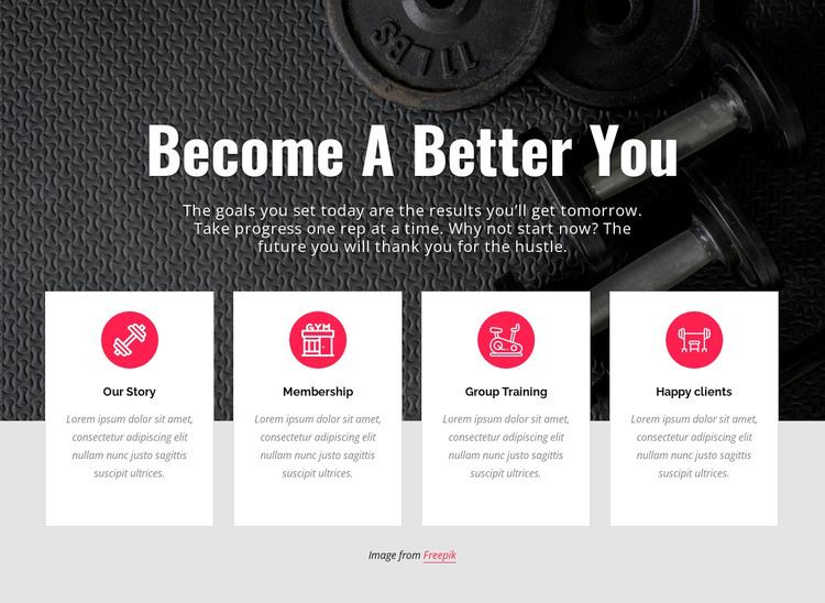 Becone a better you WordPress Theme