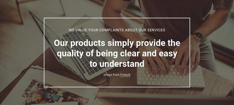 Product quality analytics WordPress Website Builder