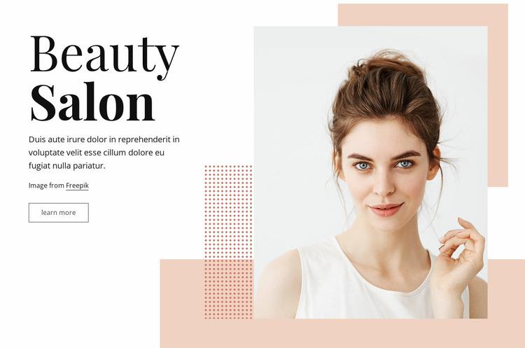 Boutique beauty salon Website Mockup