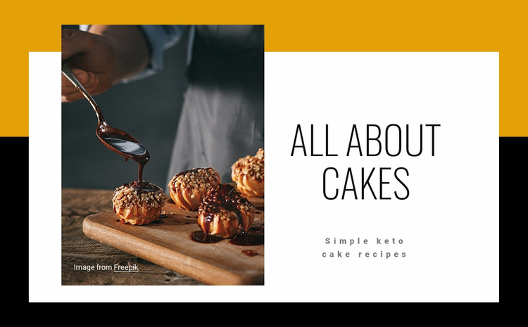 All about cakes Landing Page