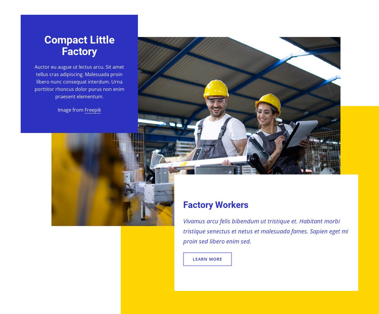 Compact little factory HTML Template