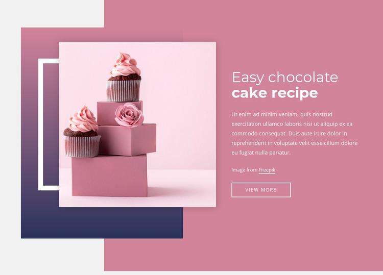 Easy chocolate cake recipes HTML Template