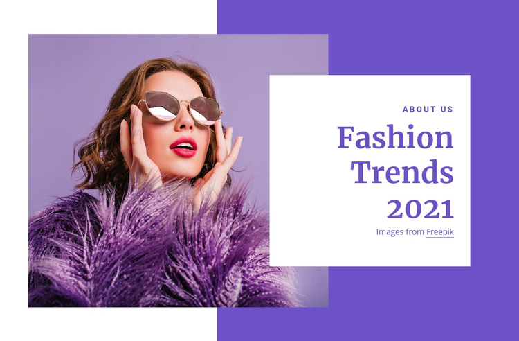 Shopping guides and fashion trends One Page Template