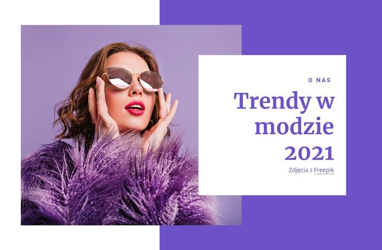 Przewodniki zakupowe i trendy w modzie Szablon witryny sieci Web