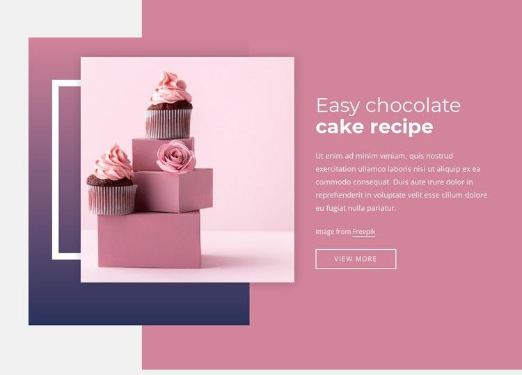 Easy chocolate cake recipes Web Page Designer