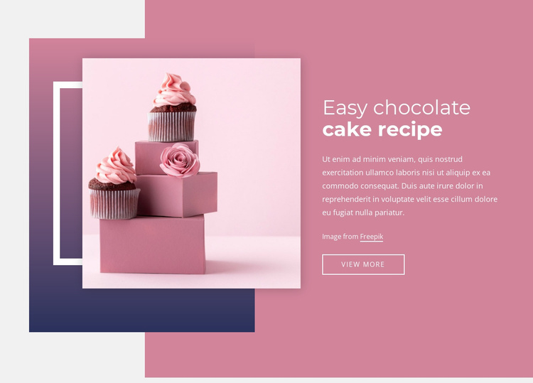 Easy chocolate cake recipes Website Template