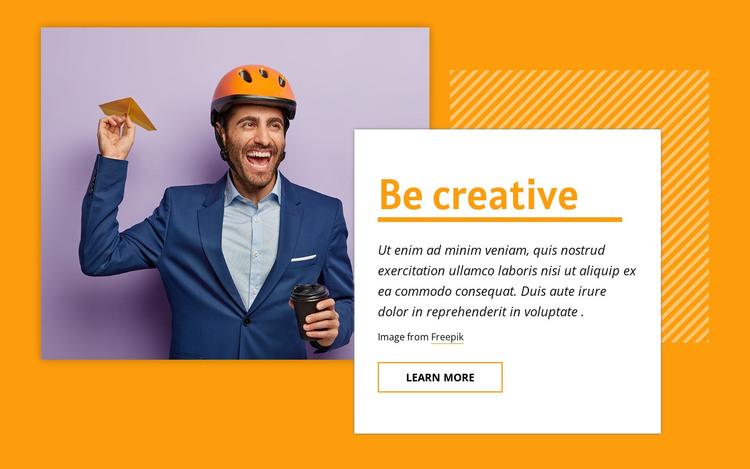 Be creative HTML Template