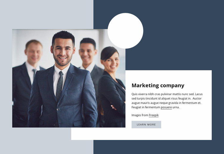 Marketing company Html Website Builder