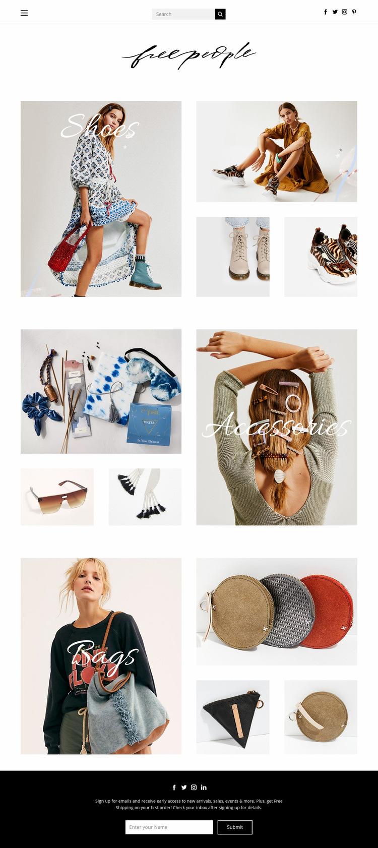 fashion Web Page Design