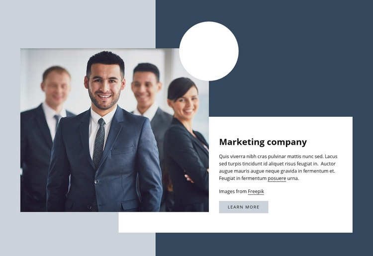Marketing company Web Page Design