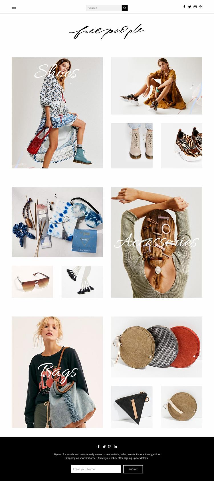 fashion Website Mockup