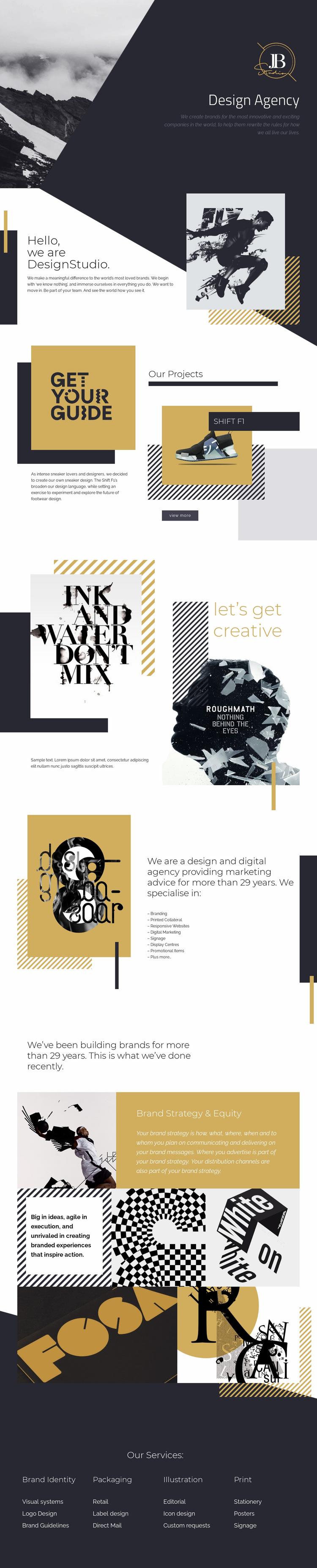 We create amazing websites Web Page Design