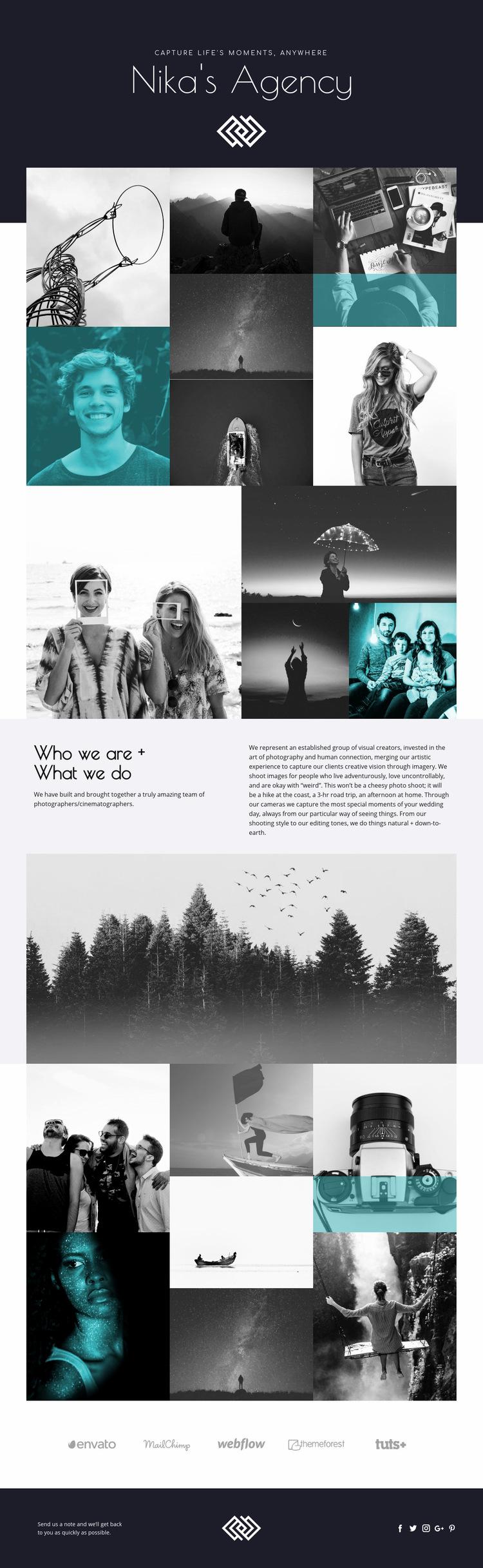 Nika's Agency Web Page Design