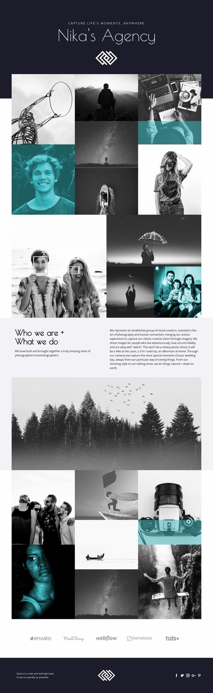 Nika's Agency Website Mockup
