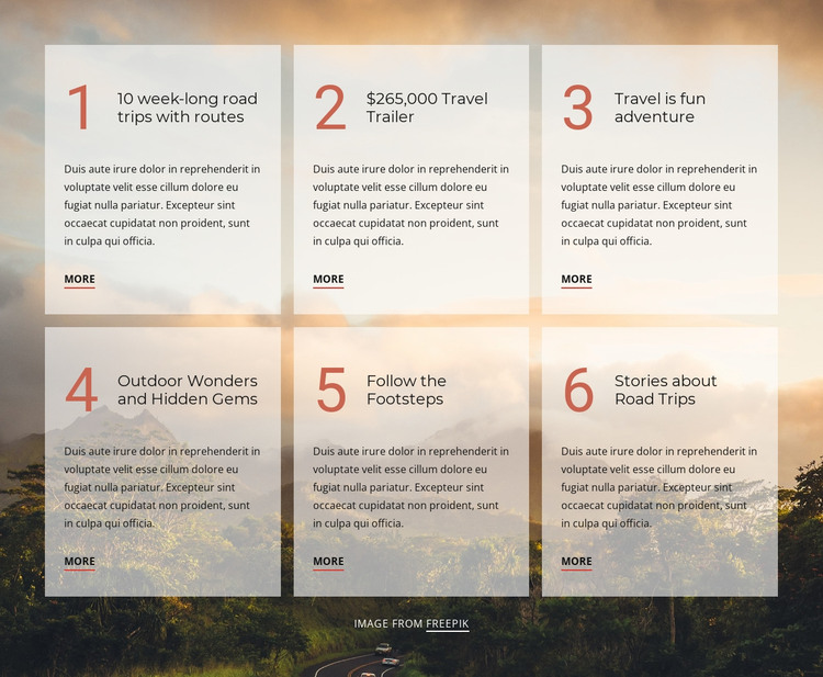 Travel is fun adventure Web Design