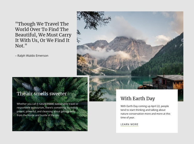 You can reconnect with nature Web Page Design