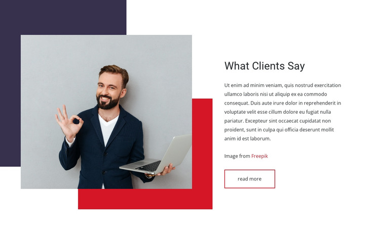 What clients say HTML Template