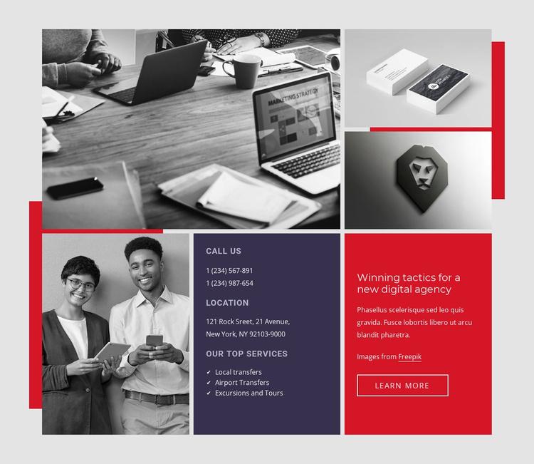 Business developmen Website Template